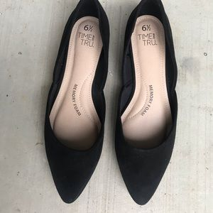 🍋 Pointed Toe Flats Suede Black